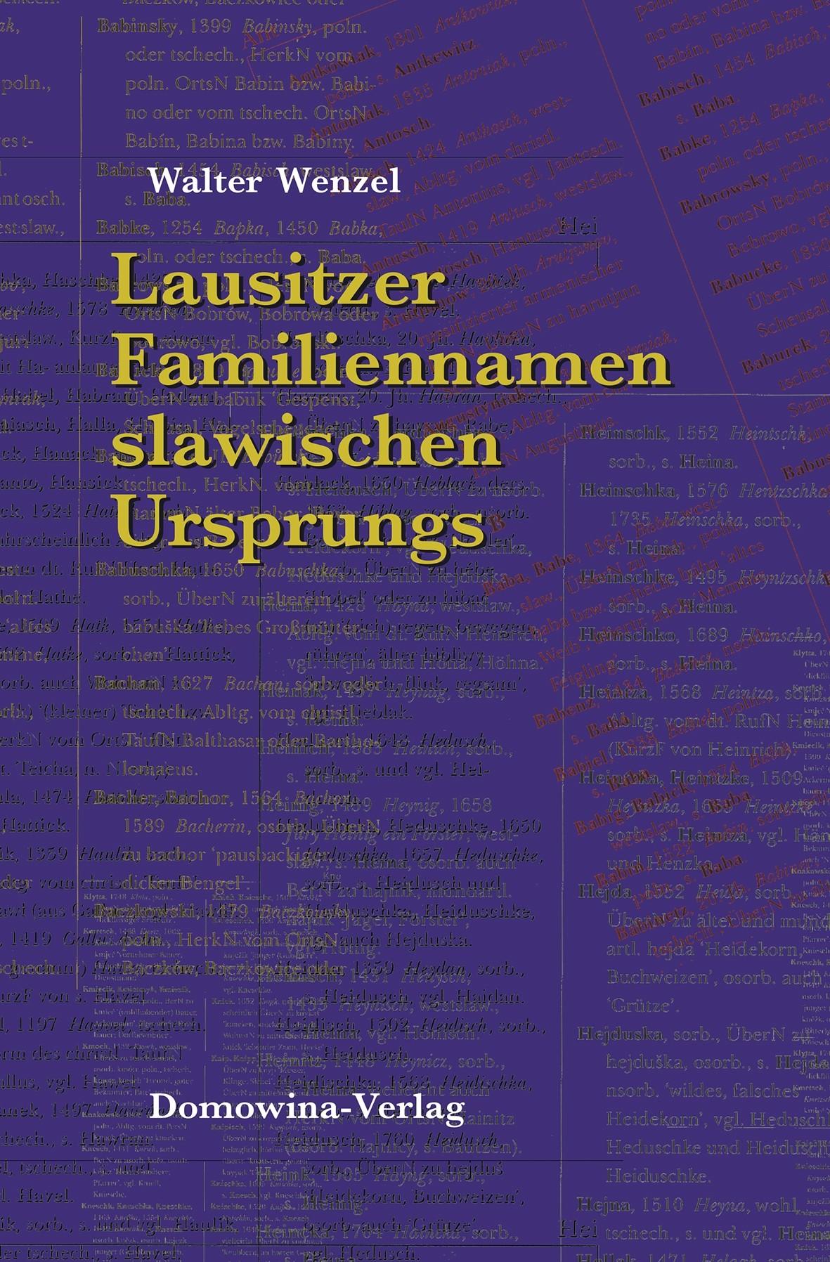 Lausitzer Familiennamen slawischen Ursprungs