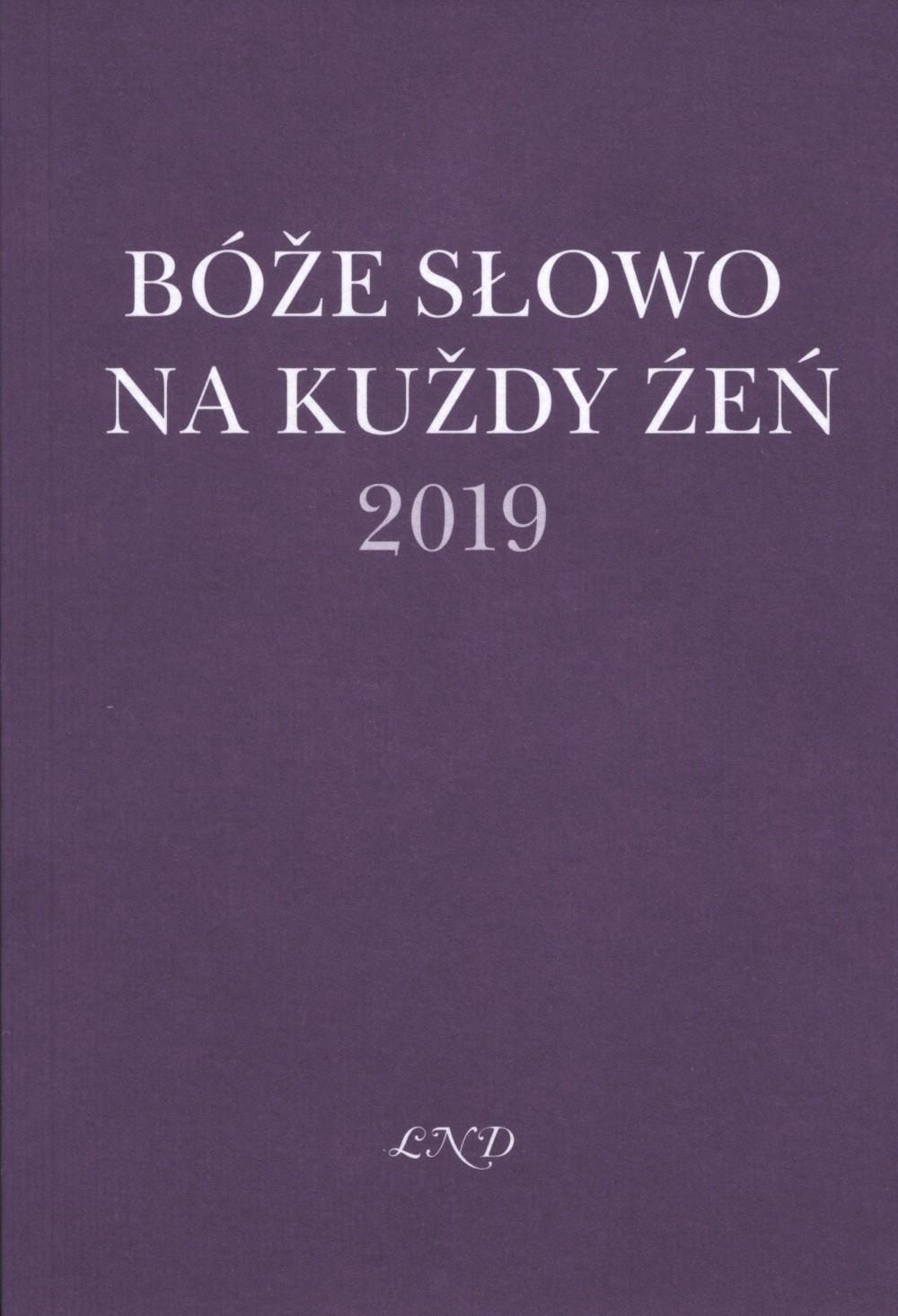 Bóže słowo na kuždy źeń 2019